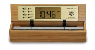 B Tone Digital Zen Alarm Clock in a Bamboo Finish