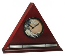 Zen Alarm Clock, Ukiyo-e Hokusai Wave Dial Face