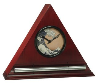 Zen Alarm Clock, Ukiyo-e Hokusai Wave Dial Face, mediation timer and clock