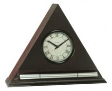 Dark Oak Zen Alarm Clock with Chime