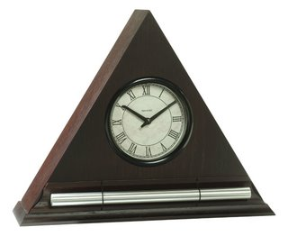 Dark Oak Zen Alarm Clock with Chime, a Meditation Timer