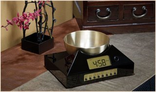 Zen Timepiece, tibetan singing bowl timer and clock