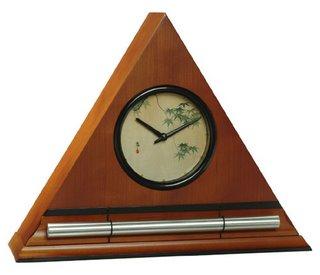 Zen Chime Clock with Maple Leaves in Honey Finish, progressive awakening clock
