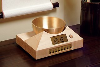 Zen Timepiece, a brass singing bowl clock and timer for meditation
