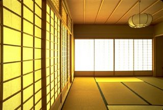 tatami-floored tea room for tea ceremony