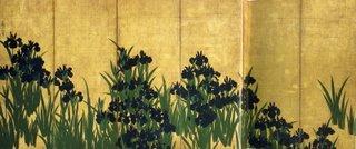 Irises by Ogata Korin Edo 1700s, Tokyo