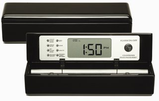 Zen Chime Alarm Clock, Digital Black Lacquer Chime Clock