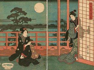 Full Moon Sumida River, Hiroshige Ukiyo-e