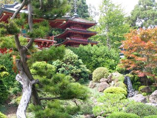 Hagiwara Japanese Tea Garden in San Francisco, California, showing the use of stone, water and plants