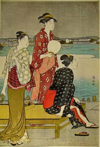 Kiyonaga Riverside Ukiyo-e