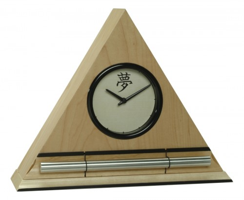 Maple Kanji Zen Alarm Clock, progressive chime alarm clock