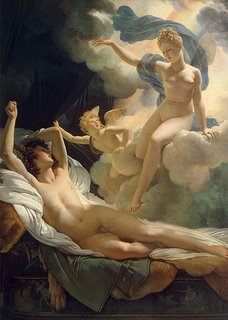 Painting of Morpheus, Phantasos and Iris by baron Guérin - Morpheus God of Dreams & Sleep