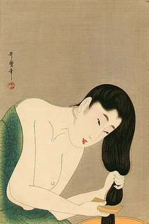 Utamaro Kitagawa, Bijin Combing Her Hair, 1750-1806