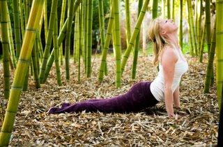 yoga practice in bamboo