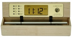 maple meditation timer and chime alarm clock called The Zen Alarm Clock, digital style in maple