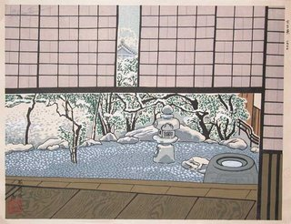 Teahouse at Daitokuji Temple, Kyoto by Tokuriki, 1977
