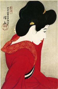 Shinsui Itō, Before a Mirror (1916) Ukiyo-e