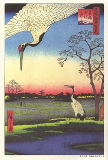 Utagawa Hiroshige (1797-1858) Cranes in a Landscape Ukiyo-e