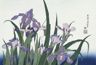 Katsushika Hokusai Ukiyo-e, Japanese Iris