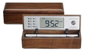 Meditation Timer, The Digital Zen Alarm Clock in Solid Walnut