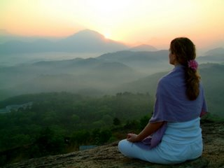 meditation sunrise