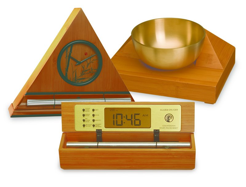 unique soothing gong alarm clocks with singing bowl