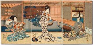 Are You a Light or Heavy Sleeper? Ukiyo-e, A Tea Party by Toyokuni II