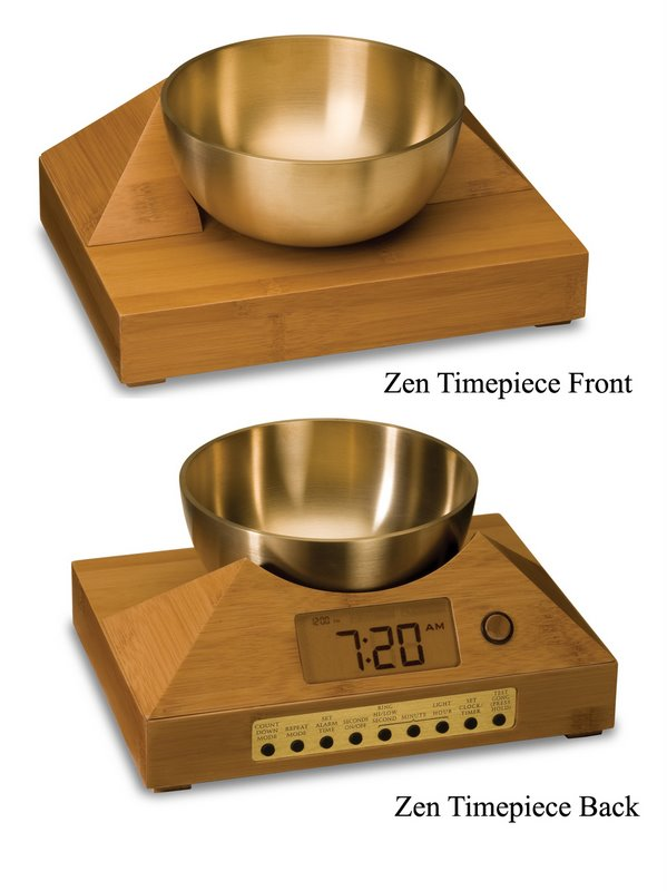 Sound Therapy Alarm Clock with Tibetan Singing Bowl