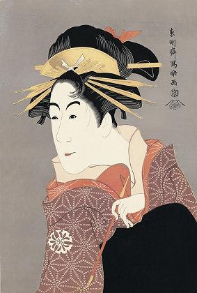 Are You Tired and Grouchy? Sharaku Toshusai, The actor Matsumoto Yonesaburo as Shinobu