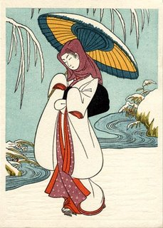 Snow print by Suzuki Harunobu - Life Your Mood to Change Your Life