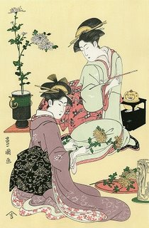 Dreams May Improve Our Memory - Toyokuni Utagawa, Flower Arrangement