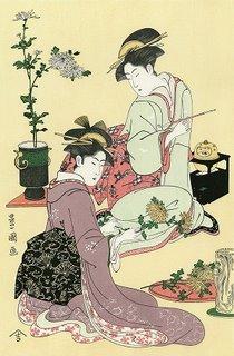 Dreams May Improve Our Memory - Toyokuni Utagawa, Flower Arrangement