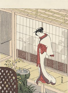 How to Ease Yourself to Sleep:  Harunobu Suzuki, Beauty at the Veranda