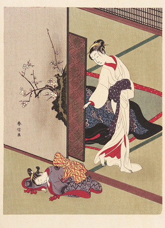 Chime Alarm Clocks and Meditation Timers - Mother and daughter Harunobu