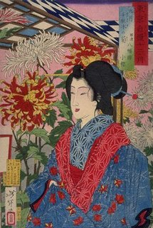 Yoshitoshi, Geisha at a Flower Festival, 1880 - Snooze More Soundly